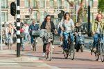 Op de fiets naar het werk