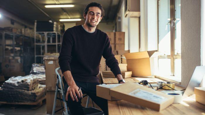 Blije ondernemer; winst; sparen