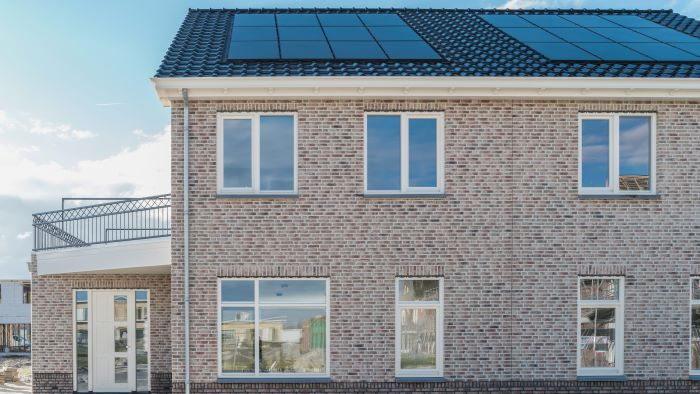 nieuwbouwwoning met zonnepanelen